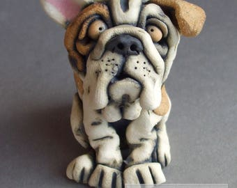 Mini Bulldog Ceramic Sculpture