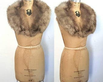 SALE SILVER Fox Fur Collar / bridal wedding