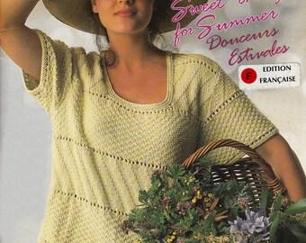 Douceurs Estivales- Livret de tricot vintage 1991