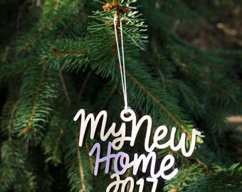 My New Home 2017 Christmas Ornament - Choose your color! | Christmas Ornament | Housewarming Gift | Christmas Gift | New House | New Home