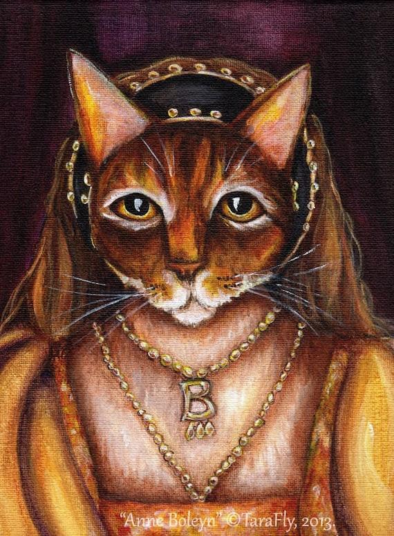 Anne Boleyn Tudor Cat Fine Art Print