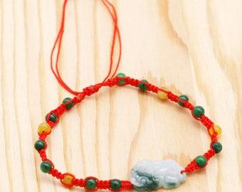 Protection and abundance men's bracelet - jadeite Pi Xiu