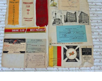 Shriners Scrapbook Ephemera - Lulu Temple - Shrine Club Of Philadelphia - 1925