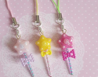 Miniature Star Wand Charms