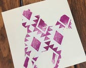 Horse Vinyl Decal - Patterned Vinyl - Decals - Window Decals -Car Decals -Horse - Aztec Patteren - Aztec