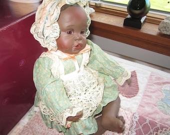 "Yolando Bello's ""Danielle"" Ashton-Drake Galleries. African-American Porcelain Doll. Original Box"