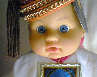 Weird Baby Doll Assemblages  Baby Bishop Art  Doll Assemblage Weird   Art Doll Mixed Media