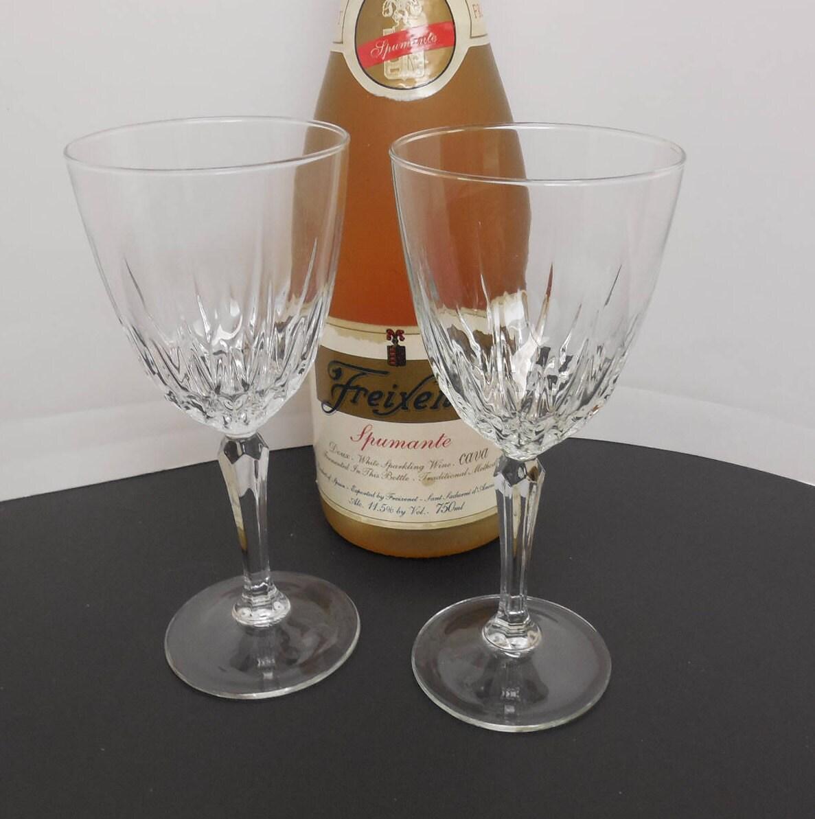 Luminarc Crystal Champagne Glasses Vintage Crystal Stemware