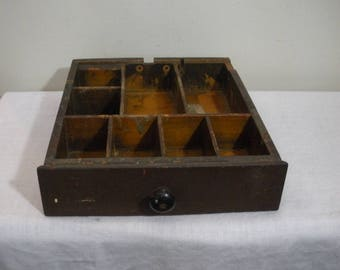 Vintage 1920s Remington Wood Cash Drawer