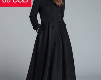 Sale, black coat, wool coat   1649-1