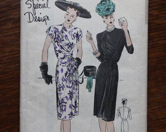 Vogue Sewing Pattern S-4641 Special Design One Piece Dress Size 18 Bust 36 Genuine VINTAGE by Plantdreaming