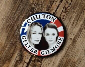 Gilmore Girls Pin, Prop Replica, Geller Gilmore, Paris Geller, Rory Gilmore, Chilton School, Revival, Political Button, School President