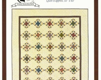 """Star Quilt Pattern LEMOYNE HOUSE A Civil War Inspired Quilt Pattern from Red Crinoline Quilts - 55"""" x 63"""" - Reproduction Inspired Design"""