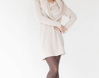 SALE - Original dress | Creamy dress | Open shoulders dress | LeMuse original dress