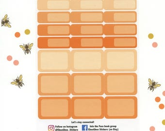 SUNSET COLORFUL BOXES Planner Stickers   BeeColorful