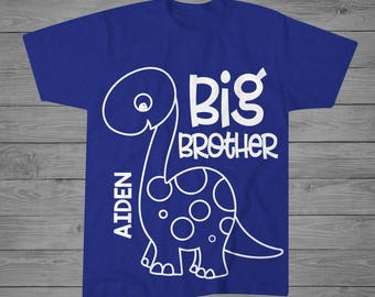 Dinosaur Big Brother Shirt | Dinosaur Shirt | Personalized Big Brother Shirt | Sibling Shirt | Announcement Shirt | Big Brother Gift