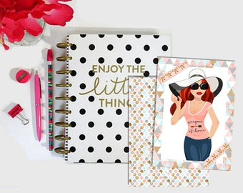 Digital Printable Traveler's Notebook TN Planner Dashboard Easter Midori Fauxdori Chic Sparrow Foxy Fix Nayapaperie - Stick to Your Story