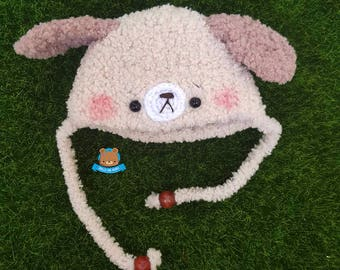 Beige dog puppy hat for Irrealdoll, Lati Yellow, Mui Chan, Pukifee VERSION 1