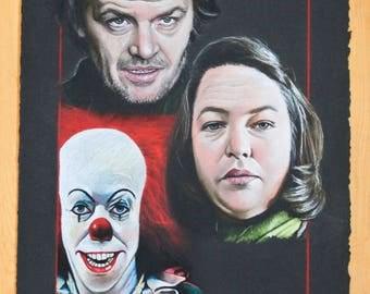 Stephen King Original Drawing + FREE 5x7 Print