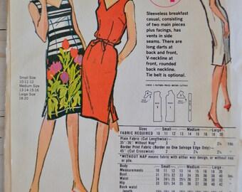 "Vintage McCall's Sleeveless Dress ""Breakfast Casual"" Summer Sheath Dress Size 13-16 UNCUT"