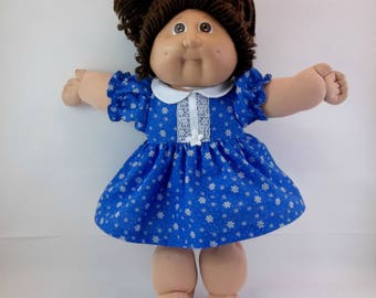 "Cabbage Patch Doll  Christmas Dress and Panties Blue Snowflake  16 "" Doll Outfit Toys"