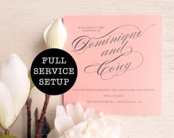 printable wedding programs ceremony program double sided