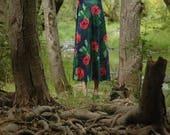 Psychedelic Dress / Jungle Print / Palm Tree Print / Pucci Vibes / Emilio Borghese / Pop Art / 60s Dress / Maxi Dress / Long Dress /