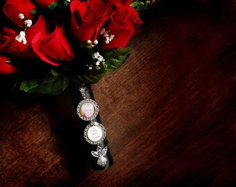 Bouquet Photo Charm / Wedding Bouquet Photo Charm / Custom Photo Charm / Bridal Bouquet Photo Accessory / Bouquet Photo Jewelry / Bride Gift
