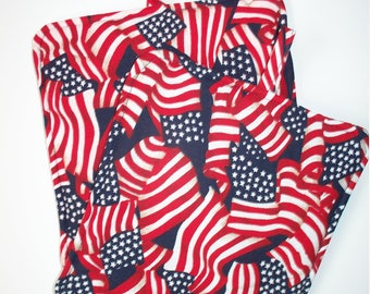 USA Patriotic Flags,Set of 2 Heavy Duty,Thick,Pot Holders,Kitchen Hot Pads,Trivets,Flag Collector Gift,Red White and Blue,4th of July
