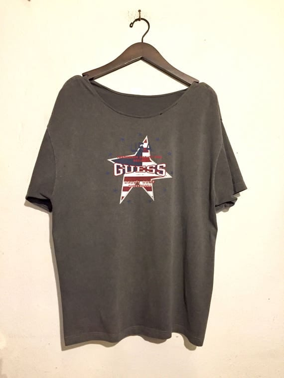 Guess Oversized Boat Neck Tee