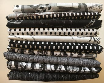 Lights Camera Action from Windham Fabrics - 10 Fat Quarters of black and white film motif