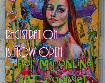ONLINE ART CLASS Shabby Chicas by me Artist Dana Bloede kindly read description below before purchasing