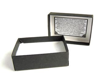 Small Black Gift Box for Jewellery, Eco Friendly, Made from Recycled Materials, Supremily Jewellery Gift