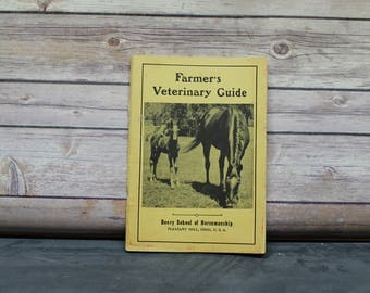 1965 Farmer's Veterinary Guide, Anatomical Pictures, Cow, Chicken, Sheep, Horse, Swine