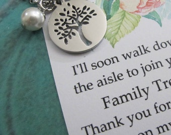 Mother of the Groom Gift From Bride-Thank You For Raising The Man Of My Dreams-Family Tree Of Life Necklace Keepsake-Mother Of Groom Gift