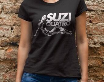 Suzi Quatro  T shirt screen print short sleeve      shirt cotton