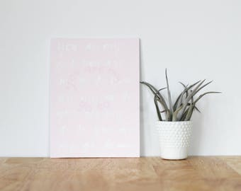 """pink wall art acrylic painting, """"you are my go to"""" - are you my bestie, flat 6x8 canvas, gift for friend, best friends, portrait, gift"""