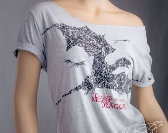 Mother of Dragons Shirt Game of Thrones Shirt Daenerys Stormborn Khaleesi Winter Is Coming House Targaryen Off The Shoulder Slouchy Shirt