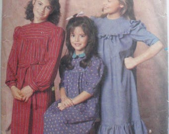 Girl's Belle France Prairie Dress Sewing Pattern - Butterick 6269 - Sizes  7-8-10, Breast 26 - 28 1/2