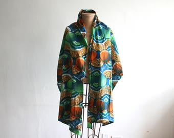 Wax Block Printed Cotton Shawl