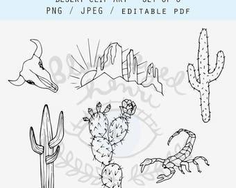 Desert Clip Art - set of 6 images