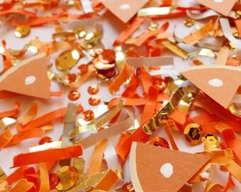 Thanksgiving, Table Decor, Pumpkin Pie, Confetti, Hostess Gift, Thanksgiving Decorations, Pumpkin Pie Die Cuts, Thanksgiving Party Decor