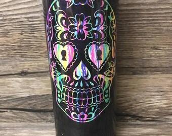 Sugar Skull Cup Etsy - Sugar skull yeti cup