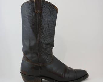 Nocona Brown Leather Cowboy Boots Style C8246 -  Mens Size 10.5D