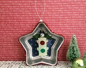 Christmas Song Silver Bells Stop Light OOAK Handmade Ornament Kitschy Junque Glow Dark Vintage Tin Star Toy Unique Ugly Sweater Party Gift