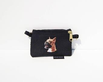 Cropped Ear Boxer, Head, Dog Coin Purse