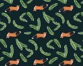 Fox and Branch Gift Wrap 20 x 29 Inches // Nature Animals Birthday Unique Wrapping Paper // Pretty Artistic Cute Present