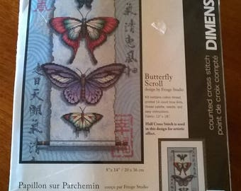 Dimensions Counted Cross Stitch Kit - Butterfly Scroll designed by Fringe Studio