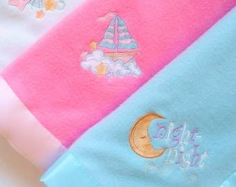 Machine Embroidered Fleece Baby Blanket