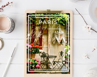 Paris Calendar - Desk Calendar - 5x7 Photography Calendar - Christmas Gift for Paris Lover - Stocking Stuffer - Travel Gift Idea for Friend